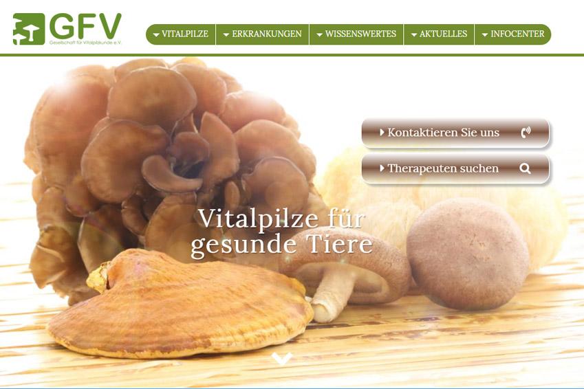 Neue Webseite zur Tier-Mykotherapie
